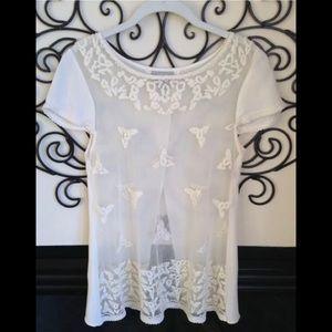 anthropologie maeve 4 gorgeous nylon layer blouse